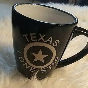 Texas, lone Star coffee mug. Black